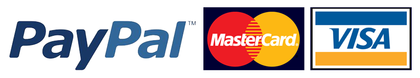 we accept Visa Mastercard and PayPal